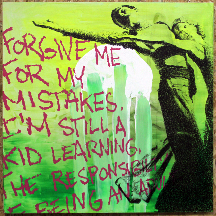 """Forgive me for my mistakes"" - Painting"