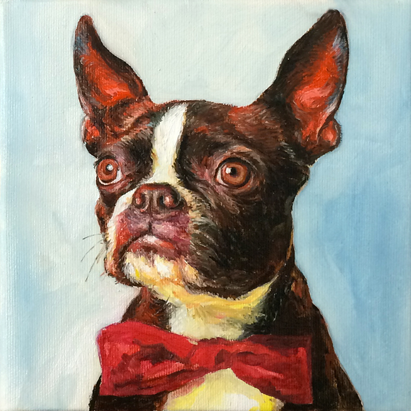 """bow tie"" Oil painting on canvas 20x20cm / february 2016"