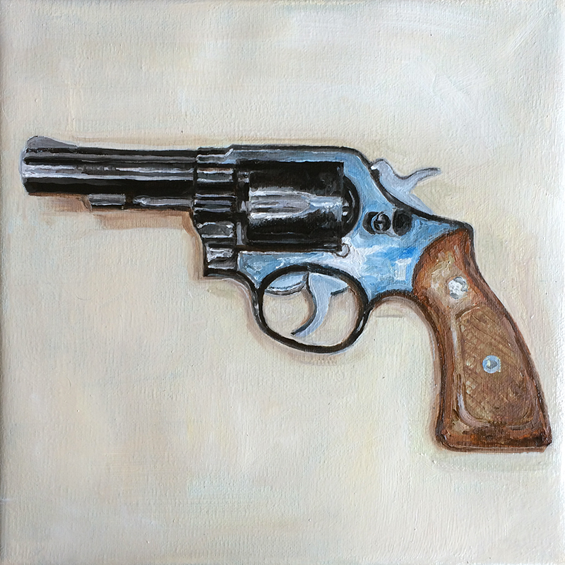 """S&W"" oil painting on canvas 20x20cm / june 2016"