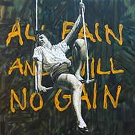 """All pain and still no Gain"" acrylic on canvas 50x50cm / january 2016"