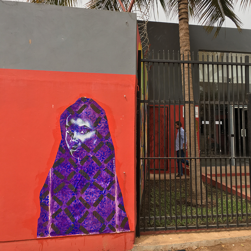 Street Art : painting / spray & acrylic on paper - Alliance Française Banjul, Gambia april 2018