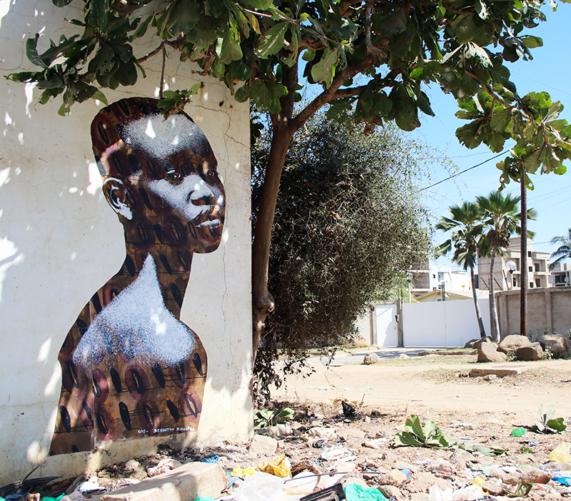 Street Art : painting / spray & acrylic on paper - Almadies Dakar Sénégal december 2018
