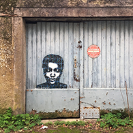 Street Art : painting / acrylic on paper - Angers, France january 2019